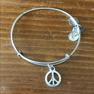 Alex and Ani: Peace bracelet in silver